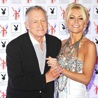 Hugh Hefner, Crystal Harris in Playboy Club London Gala Opening Event - Arrivals