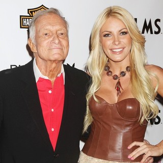Hugh Hefner, Crystal Harris in Playboy's Playmate of The Year 2011