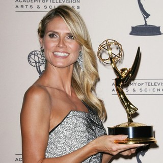 Heidi Klum in 2013 Primetime Creative Arts Emmy Awards - Press Room