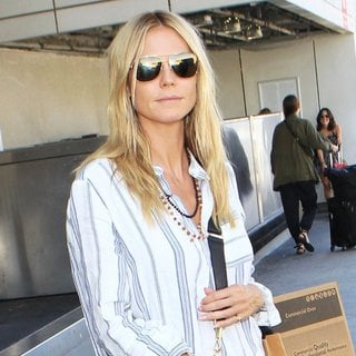 Heidi Klum Arrives at Los Angeles International Airport