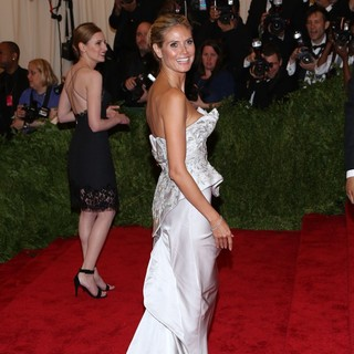 Heidi Klum in PUNK: Chaos to Couture Costume Institute Gala