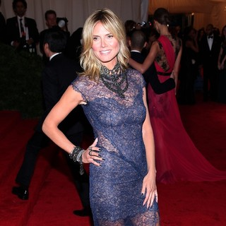 Heidi Klum in Schiaparelli and Prada Impossible Conversations Costume Institute Gala