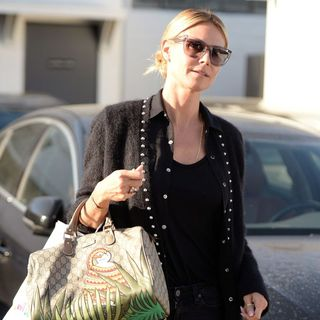 Heidi Klum Leaves Meche Hair Salon