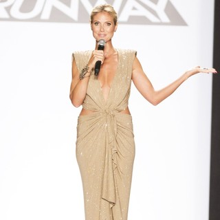 Heidi Klum in Mercedes-Benz New York Fashion Week Spring-Summer 2013 - Project Runway