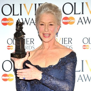 Helen Mirren in The Olivier Awards 2013 - Press Room
