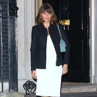 Helena Christensen in Samantha Cameron Hosts A London Fashion Week Reception Party - Outside Arrivals