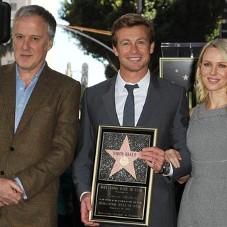 Bruno Heller, Simon Baker, Naomi Watts in Simon Baker Is Honoured with A Star on The Hollywood Walk of Fame