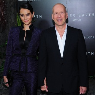 Emma Heming, Bruce Willis in New York Premiere of After Earth