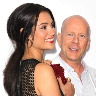 Emma Heming, Bruce Willis in Los Angeles Premiere of Red 2