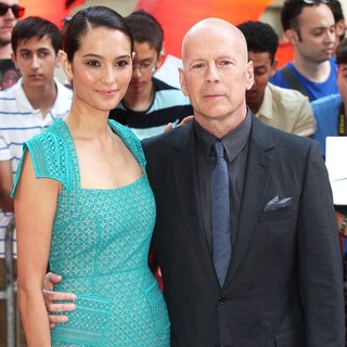 Emma Heming, Bruce Willis in Red 2 UK Film Premiere - Arrivals