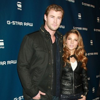 Chris Hemsworth, Elsa Pataky in Mercedes-Benz IMG New York Fashion Week Fall 2011 - G-Star - Inside Arrivals