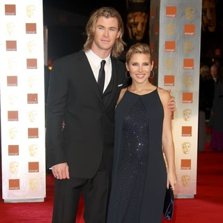 Chris Hemsworth, Elsa Pataky in Orange British Academy Film Awards 2012 - Arrivals