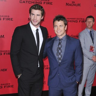Liam Hemsworth, Luke Hemsworth in The Hunger Games: Catching Fire Premiere