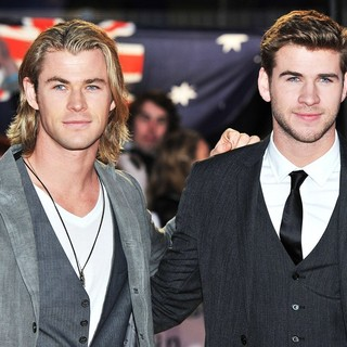 Chris Hemsworth, Liam Hemsworth in The Hunger Games Premiere - Arrivals