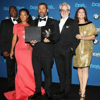 Marcus Henderson, Betty Gabriel, Jordan Peele, Bradley Whitford, Catherine Keener in 70th Annual Directors Guild of America Awards - Press Room