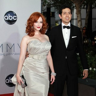 Christina Hendricks, Geoffrey Arend in 64th Annual Primetime Emmy Awards - Arrivals