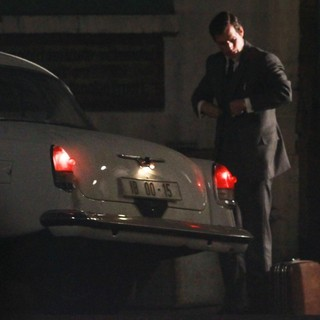 Henry Cavill in The Man from U.N.C.L.E. Filmed