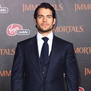 Henry Cavill in Immortals 3D Los Angeles Premiere