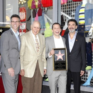 John Henson, Jon Cryer, Carl Reiner, Chuck Lorre in Jon Cryer Is Honored with A Hollywood Star