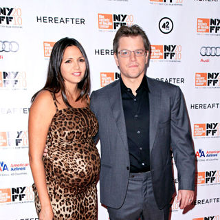Matt Damon, Luciana Barroso in 48th New York Film Festival Closing Night 'Hereafter' Premiere
