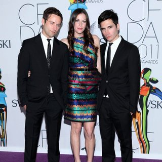 Lazaro Hernandez, Liv Tyler, Jack McCollough in The 2011 CFDA Fashion Awards