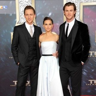 Tom Hiddleston, Natalie Portman, Chris Hemsworth in German Premiere of Thor: The Dark World