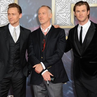 Tom Hiddleston, Alan Taylor, Chris Hemsworth in German Premiere of Thor: The Dark World