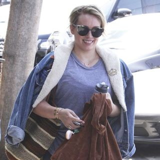 Hilary Duff Leaves The Gym