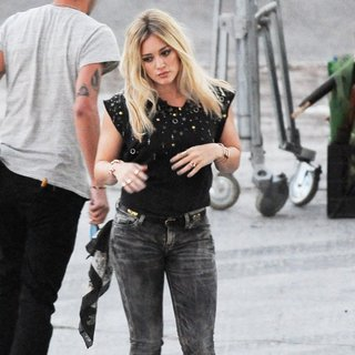 Hilary Duff Dancing Away for Music Video All About You