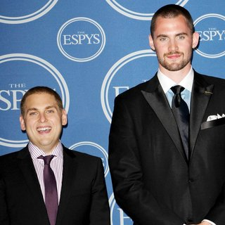 Jonah Hill, Kevin Love in The 2011 ESPY Awards - Press Room