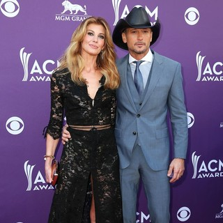 Faith Hill, Tim McGraw in 48th Annual ACM Awards - Arrivals