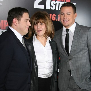 Jonah Hill, Amy Pascal, Channing Tatum in Los Angeles Premiere of 21 Jump Street - Arrivals