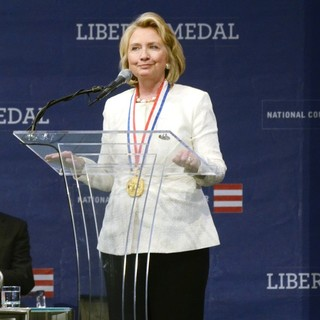 Hillary Clinton in Hillary Clinton Awarded Liberty Medal by National Constitution Center