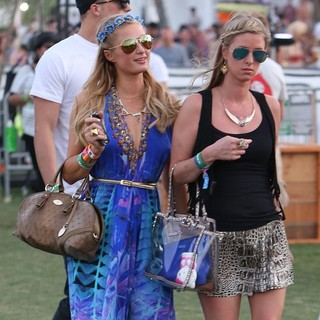 Paris Hilton, Nicky Hilton in The 2013 Coachella Valley Music and Arts Festival - Week 1 Day 2