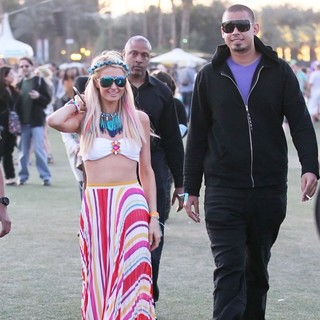 Paris Hilton, Afrojack in Celebrities at The 2012 Coachella Valley Music and Arts Festival - Day 2