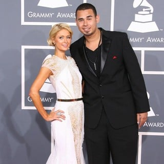 Paris Hilton, Afrojack in 54th Annual GRAMMY Awards - Arrivals