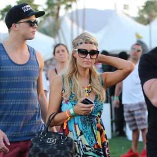 River Viiperi, Paris Hilton in The 2013 Coachella Valley Music and Arts Festival - Week 1 Day 1
