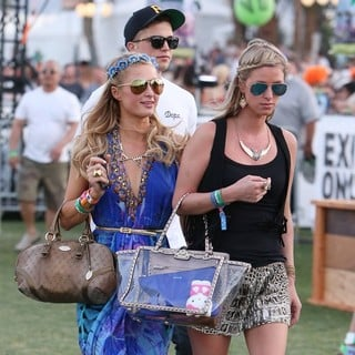 Paris Hilton, River Viiperi, Nicky Hilton in The 2013 Coachella Valley Music and Arts Festival - Week 1 Day 2