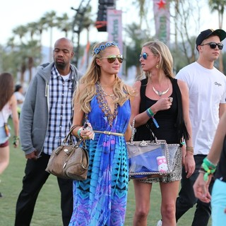 Paris Hilton, Nicky Hilton, River Viiperi in The 2013 Coachella Valley Music and Arts Festival - Week 1 Day 2