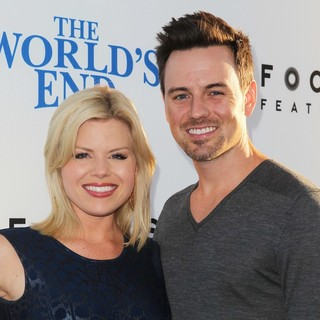 Megan Hilty, Brian Gallagher in The World's End Hollywood Premiere