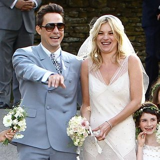 Jamie Hince, Kate Moss in Kate Moss and Jamie Hince Wedding Day