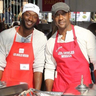 Aldis Hodge, Blair Underwood in The Los Angeles Mission's Thanksgiving for Skid Row Homeless