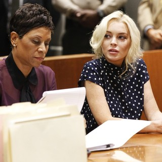 Shawn Chapman Holley, Lindsay Lohan in Lindsay Lohan Inside The Los Angeles County Superior Court Airport Courthouse During Her Hearing