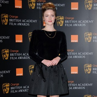 Holliday Grainger in 2012 Orange British Academy Film Awards Nominations Announcement - holliday-grainger-2012-bafta-nominations-04