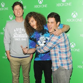 Anders Holm, Blake Anderson, Adam DeVine in Xbox One Official Launch Celebration - Arrivals