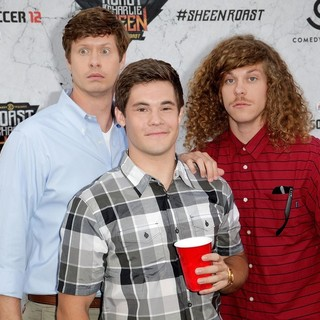 Anders Holm, Adam DeVine, Blake Anderson in Comedy Central Roast of Charlie Sheen - Arrivals