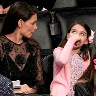 Katie Holmes, Suri Cruise-The Los Angeles Lakers Match Against Detroit Pistons