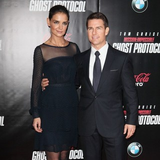 Katie Holmes, Tom Cruise in New York Premiere of Mission: Impossible Ghost Protocol