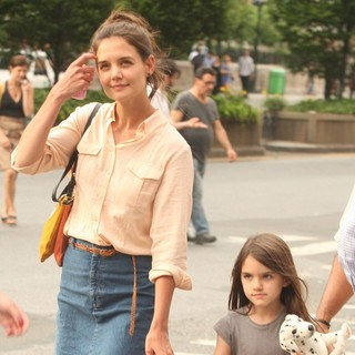 Katie Holmes, Suri Cruise in Katie Holmes Walk Around Union Square with Suri Cruise