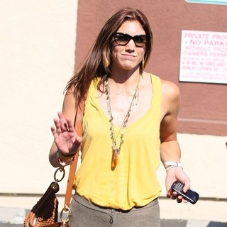 Hope Solo in Dancing with the Stars Celebrities Outside The Dance Rehearsal Studios